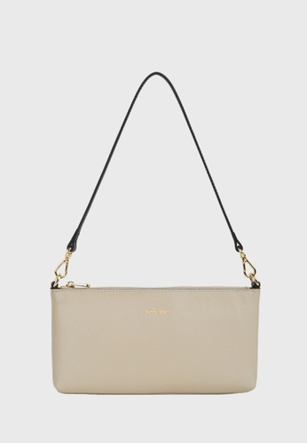 Tocco Toscano brown and beige Lunar Prism Pouch (Beige) 57F51AC417F2AAGS_1
