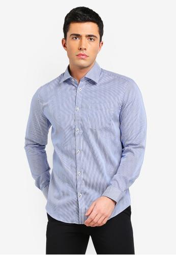 ESPRIT 藍色 長袖襯衫 7A6C7AACDB9898GS_1