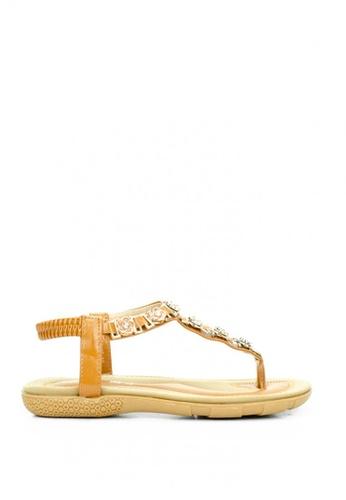 Cardam's Lifestyle brown CLS 93125 Tan Sandals E7ECFSHCA1923BGS_1