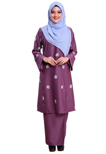 Kurung Happy 05 from Hijrah Couture in Purple