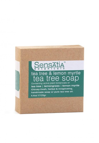 Sensatia Botanicals n/a Sensatia Botanicals Tea Tree & Lemon Myrtle Tea Tree Soap - 125 gr DEDDEBE5929C33GS_1