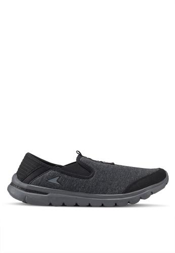 Power black and grey N-Walk Calm Walking Shoes 72A2ESHCFD5E63GS_1