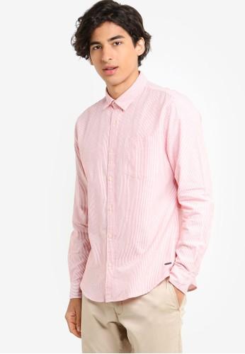 ESPRIT orange Woven Long Sleeve Shirt A930DAA5087CF3GS_1