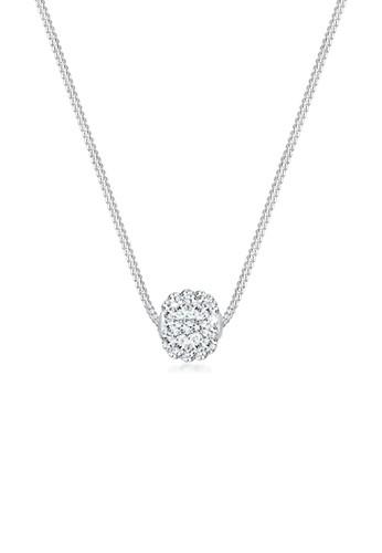 施華洛世奇水晶球 9esprit outlet尖沙咀25 純銀項鍊, 飾品配件, 項鍊