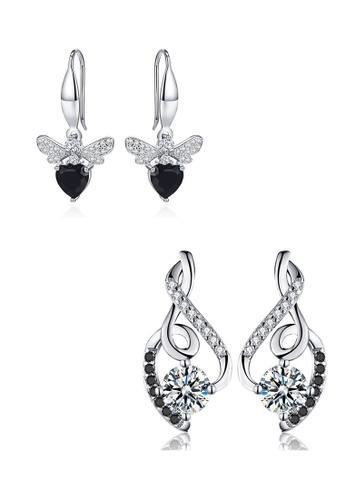 A-Excellence white Premium Elegant White Silver Earring Set 05D23ACD2DE910GS_1