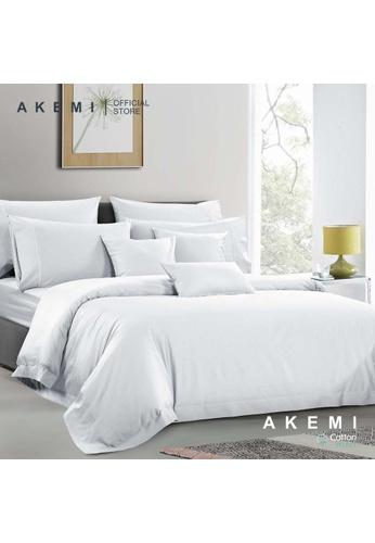 AKEMI white AKEMI Cotton Select Affinity - Sage Box White (Fitted Sheet Set) A50C5HLDB41BABGS_1