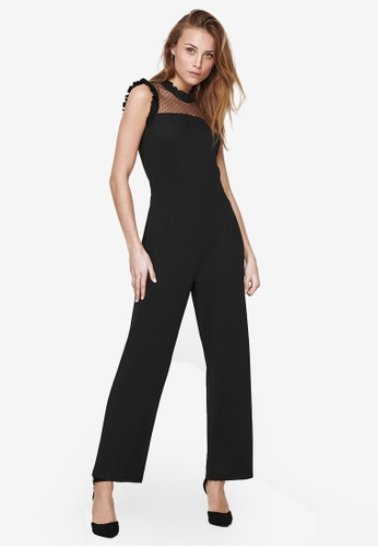 ONLY black Monna Sleeveless Dot Lace Jumpsuit 1C432AABB88A54GS_1