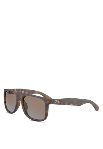 Ray-Ban brown Justin RB4165F Sunglasses RA896GL50ULXMY_1