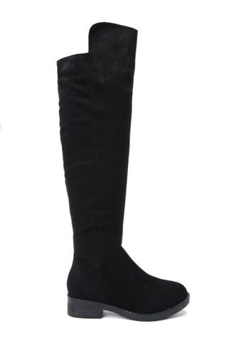 Twenty Eight Shoes black Stretchable Over Knees Boots  VB5898 81599SHC00C20CGS_1