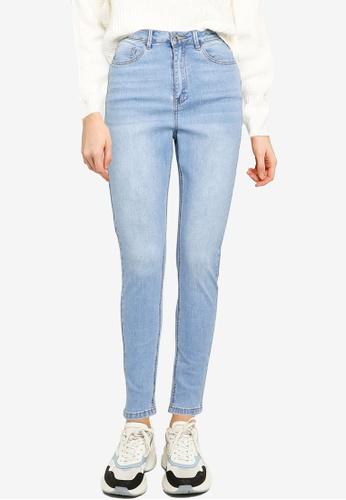 MISSGUIDED blue Sinner High Waisted Skinny Jeans 3E11CAA7B688E0GS_1