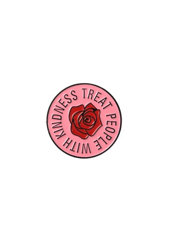 Kings Collection pink Rose Flower Enamel Pins (KCPN1112) 70873ACC1F2C12GS_1