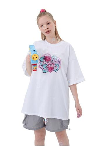 Twenty Eight Shoes Love Direct Spray Print T-shirt HH1170 85A0FAA5CD17EFGS_1
