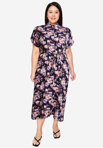 Vero Moda navy Plus Size Ines Shirt Dress EDA9DAAD546AA7GS_1