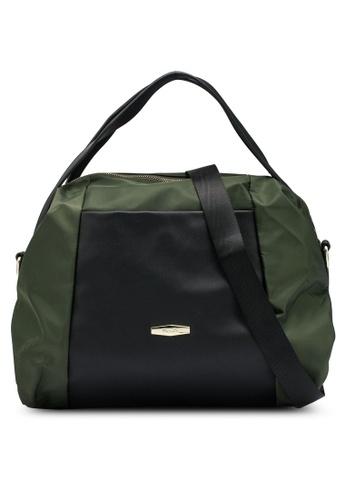 Mel&Co green Nylon Satchel Top Handle 659BCACCEE6FA4GS_1