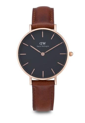 Daniel Wellington gold and brown Classic Petite St Mawes Watch DA376AC62PLPMY_1