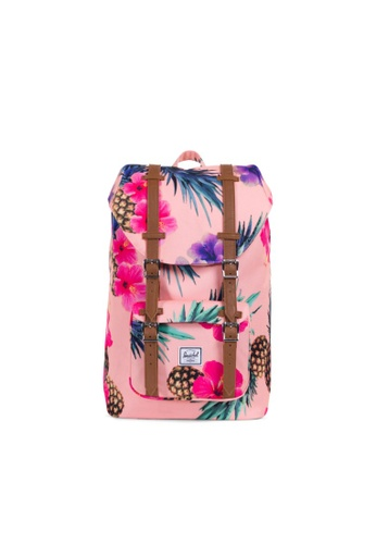 Herschel pink Little America Mid-Volume A4E33ACC2C48CAGS_1