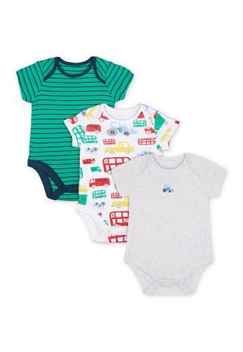 Mothercare multi Mothercare - let's go! bodysuits - 3 pack A3F19KA873DA13GS_1