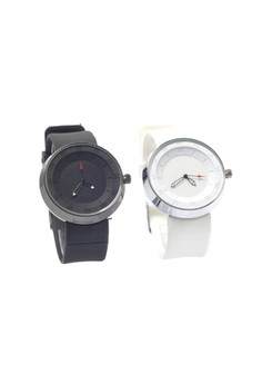 Couple Watch with Silicon Strap Watch 1015