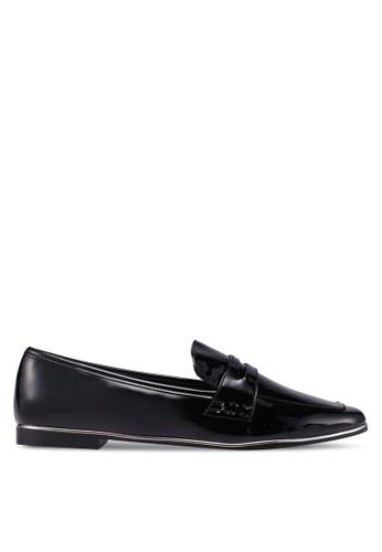 Mango black Patent Loafers DDA9CSH3433B72GS_1