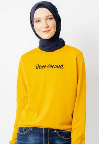 3SECOND yellow Women Tshirt 131220 A4D51AAD7FA682GS_1