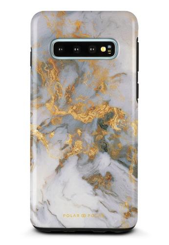 Polar Polar white Mist Marble Samsung Galaxy S10 Dual-Layer Protective Phone Case (Glossy) E8EB2AC71A1026GS_1