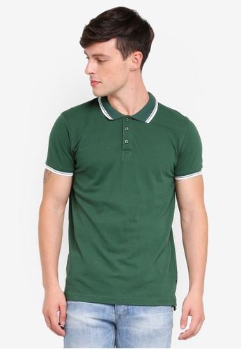 Brave Soul 綠色 短袖POLO衫 1C7A0AA6504299GS_1