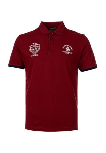Santa Barbara Polo & Racquet Club red SBPRC Regular Polo Shirt 10-9310-94 6207CAAC205C64GS_1