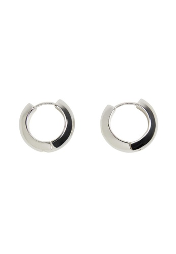 Mango silver Hoop Earrings 81FE8AC5A17D1DGS_1