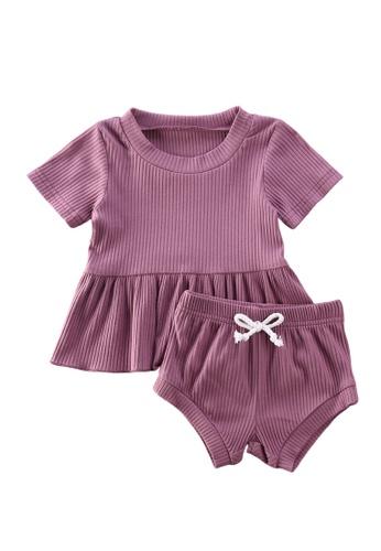 RAISING LITTLE purple Anicka Outfit Set 421E9KAE9BF3A9GS_1
