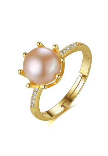 A.Excellence pink Premium Pink Pearl Ring C43A5ACC7A559BGS_1