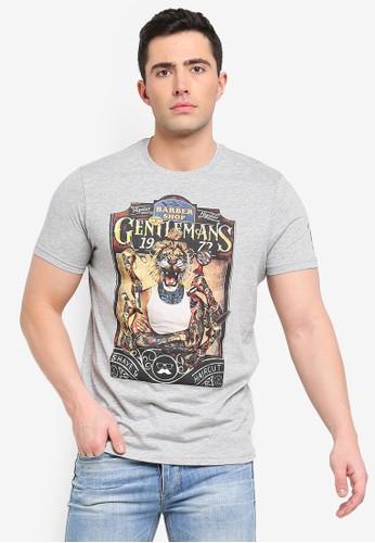 Brave Soul grey Lion Print T-Shirt 3AFCBAAAB62465GS_1