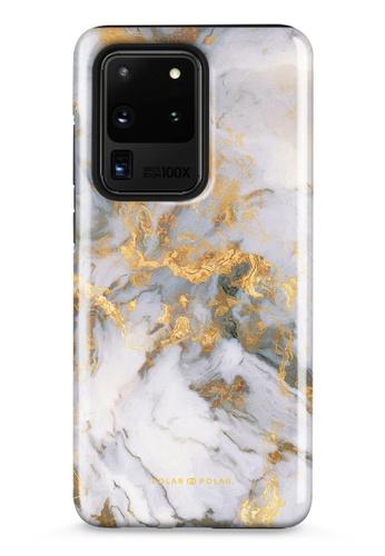 Polar Polar white Mist Marble Samsung Galaxy S20 Ultra 5G Dual-Layer Protective Phone Case (Glossy) AC197ACA36CF7EGS_1