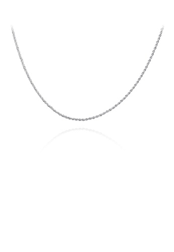Glamorousky silver Simple Twisted Rope Necklace 4D725AC472B01AGS_1