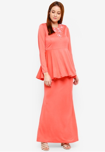 Kurung Peplum Zara from Amin jauhary in Orange