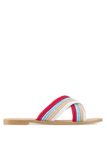 ZALORA pink and multi Braided Sandals 3D569SHCF8CC74GS_1