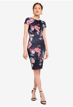 2405c972da9c4 5% OFF Lipsy Navy Floral Bardot Scuba Dress RM 245.00 NOW RM 232.90 Sizes 6  8 10 12