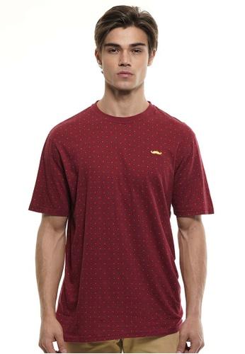 Private Stitch red Private Stitch Men Casual Jersey Print T-Shirt FD7E8AAC76E449GS_1