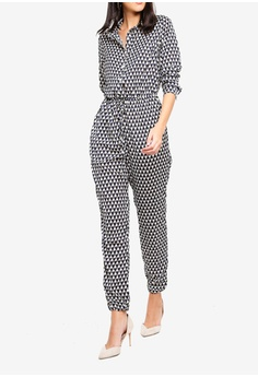 eec3534d5aa 32% OFF MISSGUIDED Geometric Long Sleeve Utility Jumpsuit S  74.90 NOW S   50.90 Sizes 6