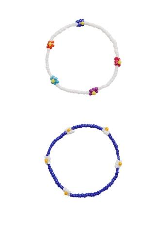 MANGO KIDS multi 2-Pack Beads Bracelets 490EDKCA5044F5GS_1
