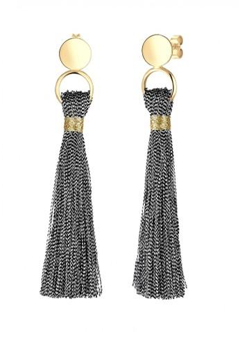 Elli Germany gold Perhiasan Wanita Perak Asli-Silver Tassel Lapis Emas Emas 9B463AC3BA4F30GS_1