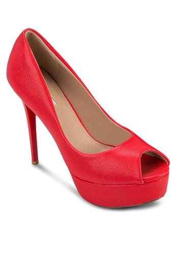 亮面露趾厚底高跟鞋, 女鞋zalora 心得 ptt, 鞋
