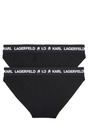 KARL LAGERFELD black LOGO BRIEF SET (PACK OF 2) 69384USCF4C864GS_1