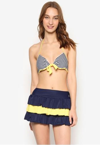 三件式比基尼集中托高設計泳衣套裝, 服飾, esprit 台灣泳褲及沙灘造型