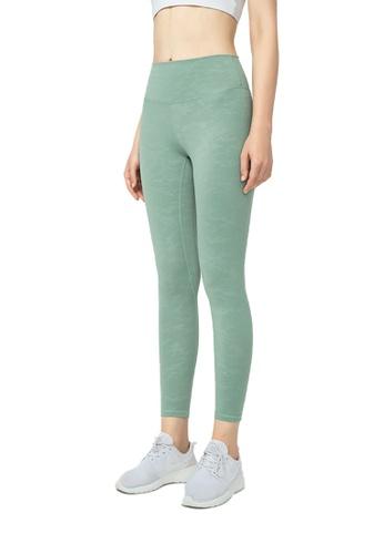 B-Code green ZWG1117-Lady Quick Drying Running Fitness Yoga Leggings-Green C8A24AA637B423GS_1