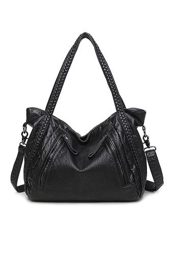 Twenty Eight Shoes black VANSA Braid Tote Bag VBW-Tb8006M ED619AC3E69880GS_1
