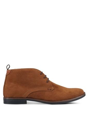 Burton Menswear London brown Tan Suede Chukka Boots BU964SH0SR8FMY_1
