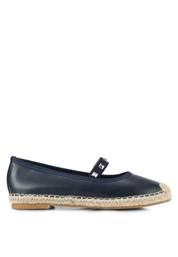 Something Borrowed navy Studded Ballerina Espadrille Flats C12DBSH7268D7DGS_1
