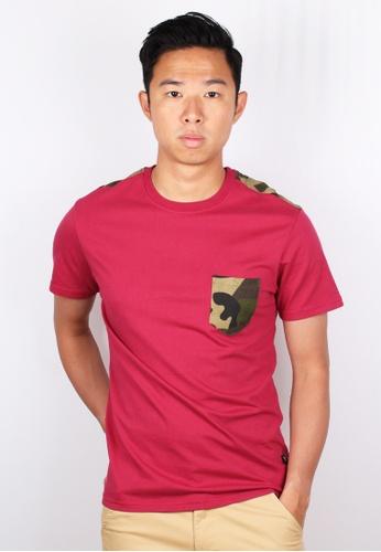 Moley red Modern Camo Pocket T-Shirt BBDA1AADC99B4DGS_1