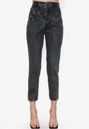 Trendyol 灰色 前鈕釦 High 腰圍 Mom 牛仔褲 5E82EAAC357C2CGS_1