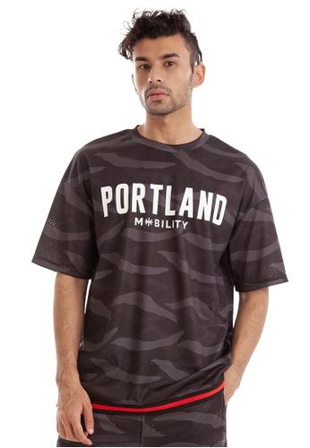 RYZ multi RYZ Portland Basketball Mesh Camo T-Shirt. ED154AA4310605GS_1